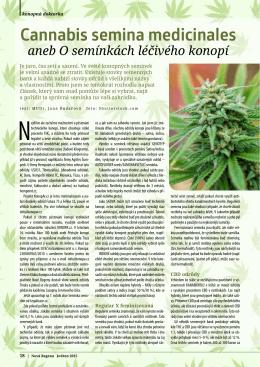 Květen - O semínkách léčivého konopí