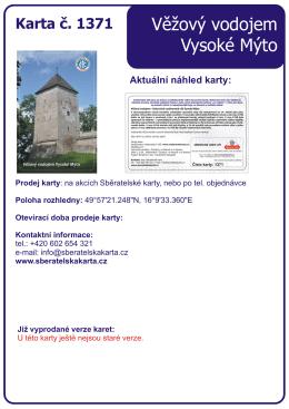 1371 Věžový vodojem Vysoké Mýto