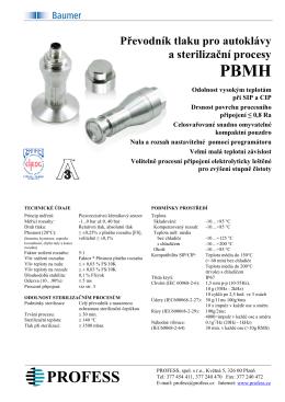 Převodník tlaku pro autoklávy a sterilizační procesy