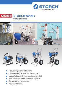 STORCH Airless - stříkací technika