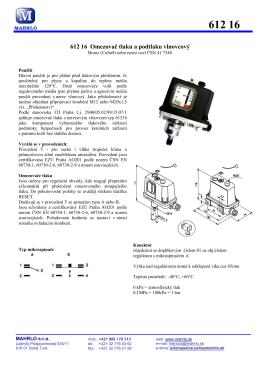 Regulátor tlaku a podtlaku membránový 61219