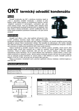 OKT termický odvaděč kondenzátu