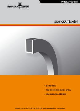STATICKÁ TĚSNĚNÍ - HENNLICH těsnění