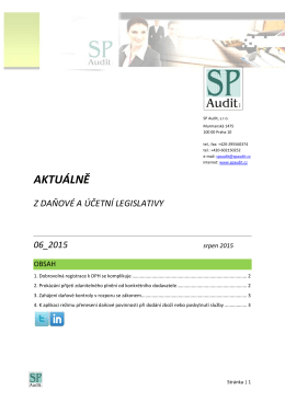 Bulletin SP Audit 06/2015