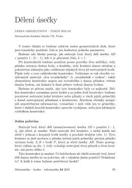 Dělení úsečky - matematika–fyzika–informatika