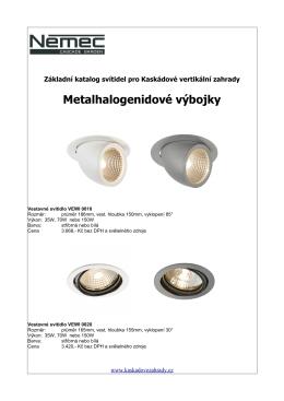Metalhalogenidové výbojky