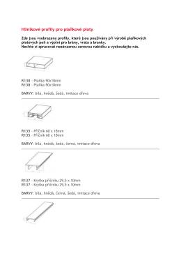 Hliníkové profily pro plaňkové ploty
