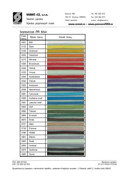 barevnice PA šňůr