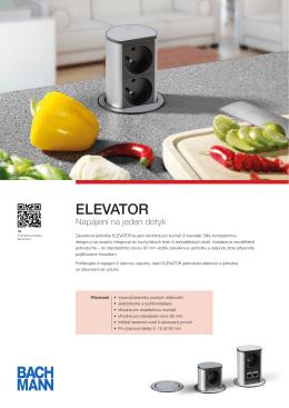 Zásuvková jednotka ELEVATOR – produktový listPDF
