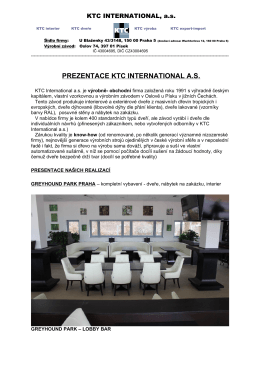 PREZENTACE KTC INTERNATIONAL A.S.