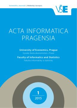 01/2015 - Acta Informatica Pragensia