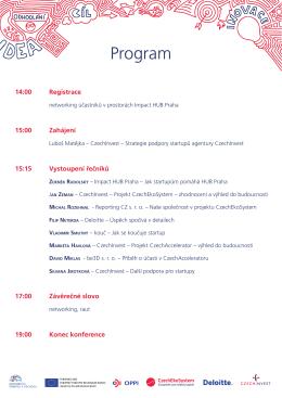 Program Závěrečné konference