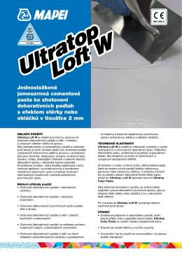 Ultratop Loft W Ultratop Loft W