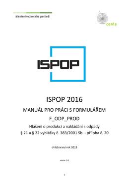 Manuál k vyplnění formuláře F_ODP_PROD