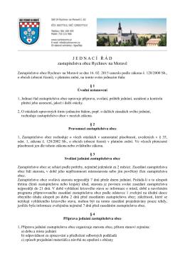 jednací řád zastupitelstva obce 2015