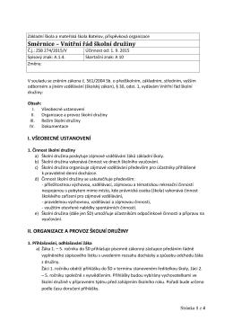 vnitrni rad skolni druziny od 1. 9. 2015