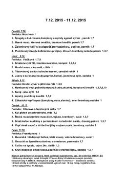 3. Zeleninový talíř s budapešť.pomazánkou, pečivo, perník 1,7