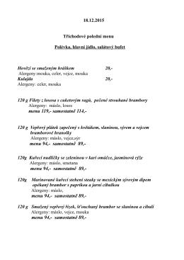menu 94,- samostatně 89