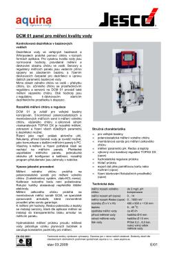 DCM 01 panel pro měření kvality vody