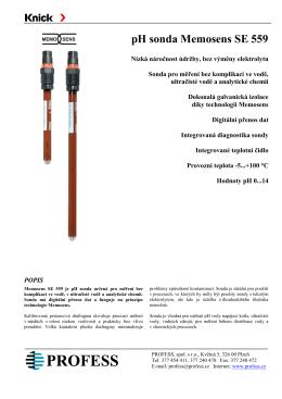pH sonda Memosens SE 559