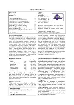 Příbalový leták / etiketa NPK(MgS) 15-15-15(-2-12)