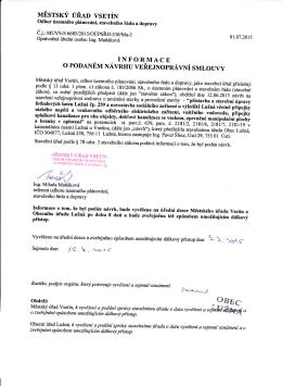 Informačně-veřejnoprávní smlouva (Sociální zařízení)