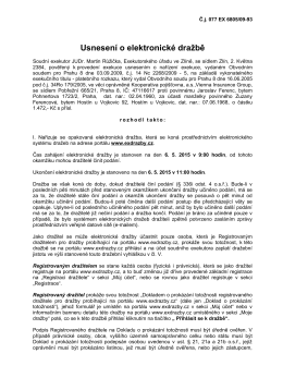 Usnesení o elektronické dražbě Č.j. 077 EX 6805/09-93