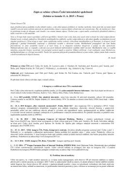 Zápis ze dne 11. 6. 2015, Praha