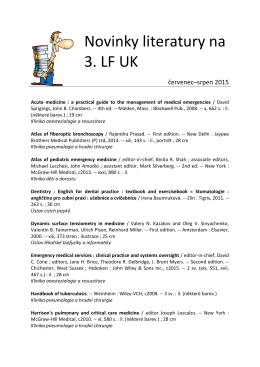 Novinky literatury na 3. LF UK