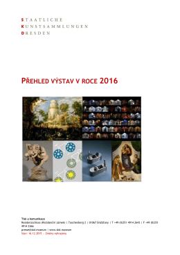 přehled výstav v roce 2016