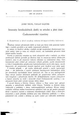 ve středni a jiŽní části VysoČiny ČeskomoraVské