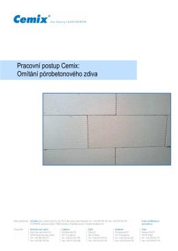 Pracovní postup Cemix: Omítání pórobetonového zdiva
