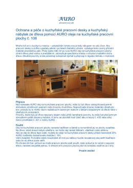 Olej na kuchyňské pracovní plochy č.108