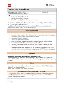 Čtenářská lekce: Kvak a Žbluňk