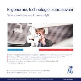 Ergonomie, technologie, zobrazování