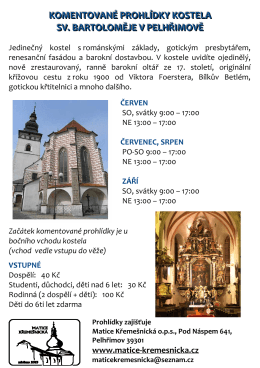 komentované prohlídky kostela sv. bartoloměje v pelhřimově