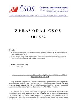 ZPRAVODAJ Č SOS 2015/2 - Český svaz orientačních sportů