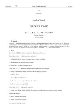Výzva k předkládání návrhů 2016 – EAC/A04/2015 - EACEA
