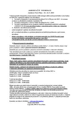 Akreditační informace