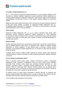 Firma / Oslovení - Pražská teplárenská as