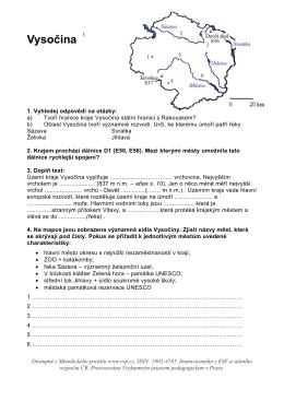 Zeměpis - Kraj Vysočina