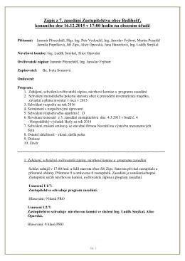 Zápis OZ z 16.12.2015