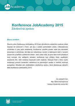 Konference JobAcademy 2015