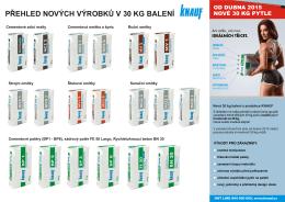 Nová 30KG balení Knauf – přehled