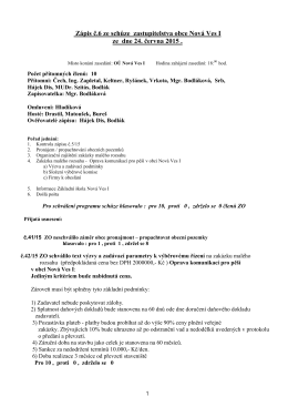 Zápis z jednání ZO dne 24.06.2015