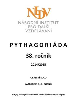 P Y T H A G O R I Á D A 38. ročník - SVČ Svitavy