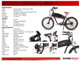 Elektrické kolo REBEL™