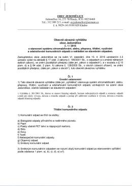 Vyhláška 1 2015