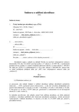 VPS udělení akreditace - Český institut pro akreditaci, ops