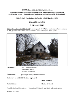 Znalecký posudek č. ZU – 087/2015